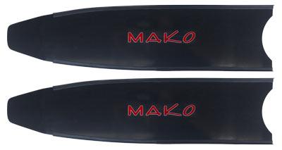 black fiberglass fin blade