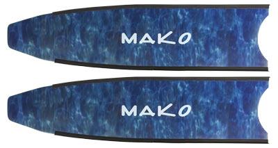 camo blue fiberglass fin blade