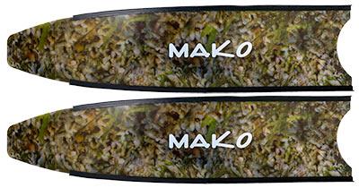 true reef camo fiberglass fin blade