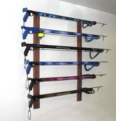 Gun Rack with Guns Mounted