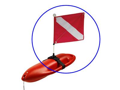 Hawaiian Hard Float flag and pole