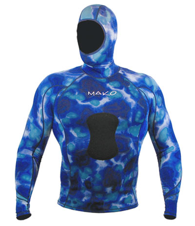 Shown with Blue Camo Hood