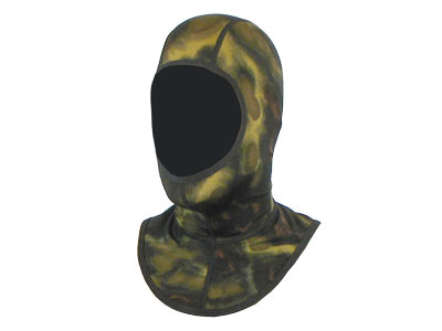 Includes Form fitting Lycra Hood in either Green or Blue Camo