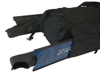 Freedive Gear Bag Side Pockets easily fit the longest fins