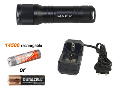 mini 630 dive light battery charger
