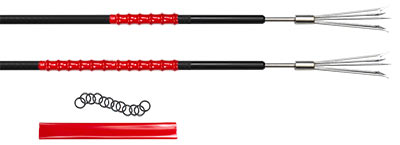 The Pole Spear Gorilla Grip kit include enough material to make two 6 inch grips, or one 12 inch grip