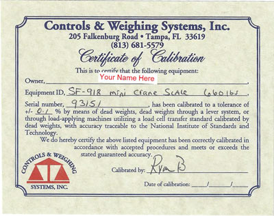 Spearfishing Scale Certification Certificate