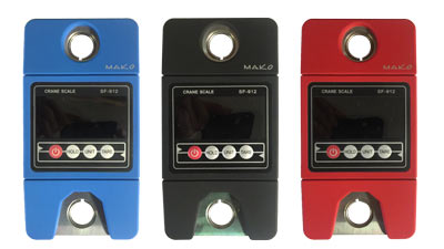 Spearfishing scale available in red blue or black colors