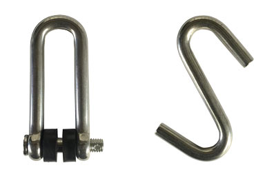 Includes a Stainless Steel D shackle and S hook