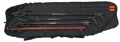 Heavy Duty Speargun Bag Opens Flat for easy access