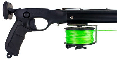 Pro Series Reel mounted on a Predator Pro Speargun