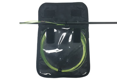 The Speargun Shooting Line Keeper can be used on your spear to keep your line tangle free