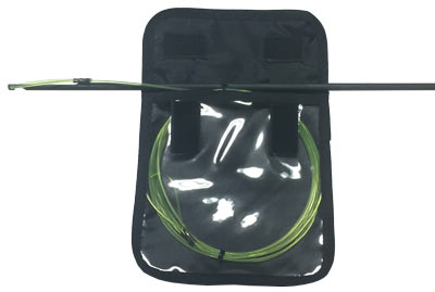 The Speargun Shooting Line Keeper can be used on your notched spear to keep your line tangle free