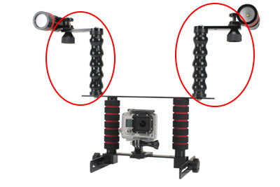 Fully Adjustable Flex Light Mounting Arms