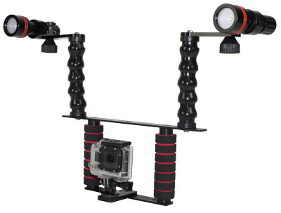 Two Handle Camera Tray Starter Package with Flex Arms and 890 Lumen Lights