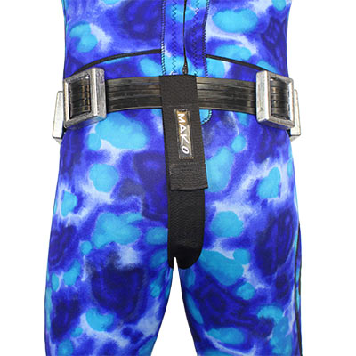 Weight Belt Crotch Strap back view on diver