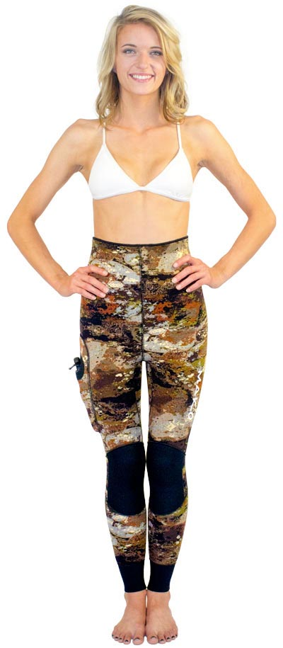 High Waist Pants with knee pads and ankle seals