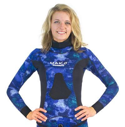Womens Ocean Blue Wetsuit Chest Loading Pad