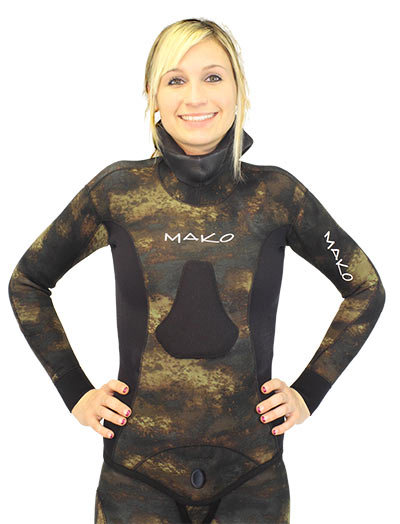 Womens Reef Camo Wetsuit Chest Loading Pad