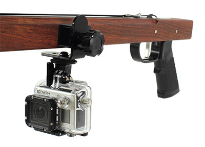 wood speargun camera bracket in-line arm kit