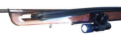Wood Speargun Mini Dive Light Bracket