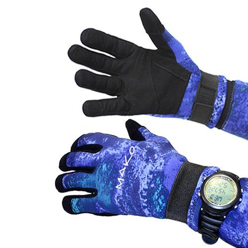 Genuine YAMAMOTO 3D Ocean Blue Dive Gloves