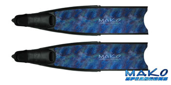 Competition Fiberglass Fins Blue Camo