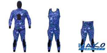 Yamamoto Ocean Blue Camo 2-Piece Open Cell Wetsuit