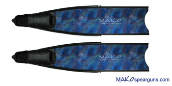 Competition Fiberglass Fins (Blue Camo)