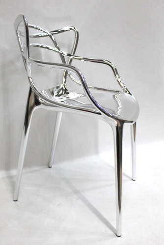 kartell masters stuhl chrom gl nzend bxtxh 57 x 47 x 84cm ebay. Black Bedroom Furniture Sets. Home Design Ideas