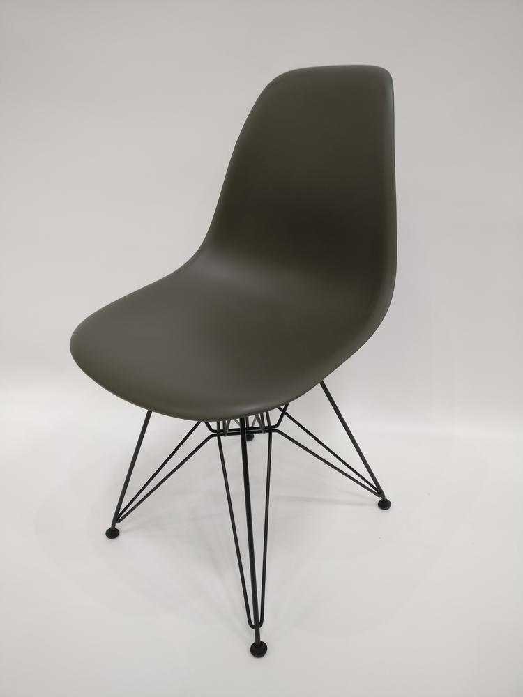 ... Vitra Eames Plastic Chair Basalt Grau Eiffelturmgestell Designerstuhl