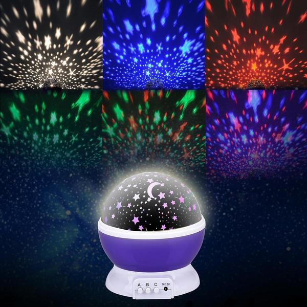 liqoo sternenhimmel projektor 360 grad 4 led korne romantische nacht lampe ebay. Black Bedroom Furniture Sets. Home Design Ideas