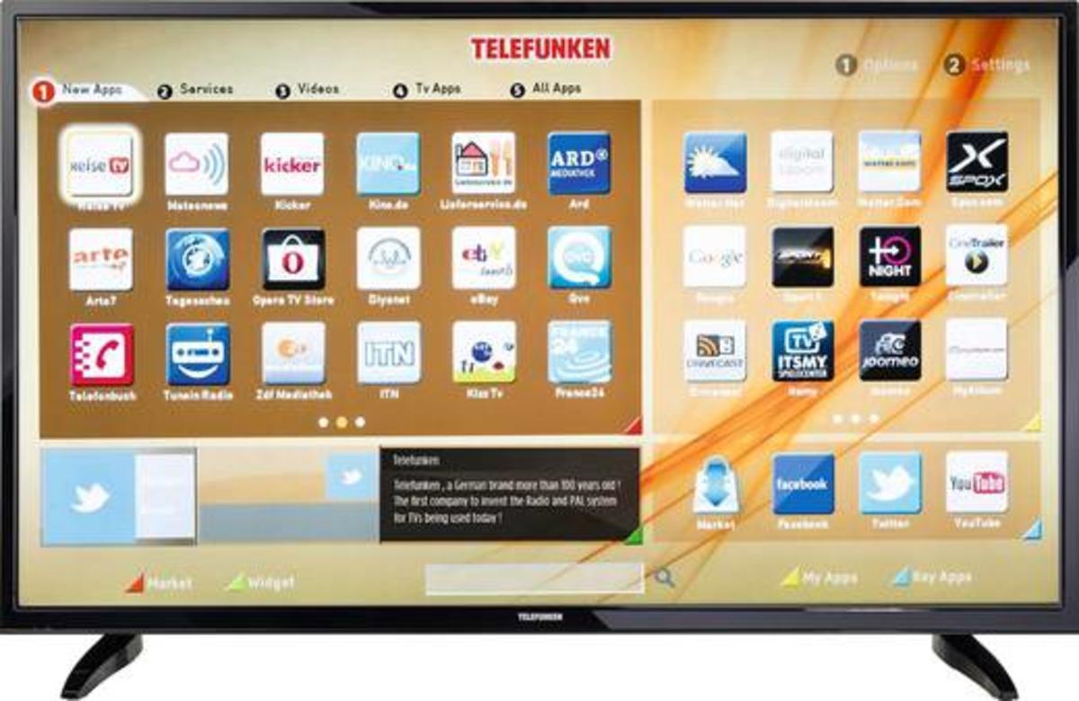 telefunken led tv b55u546a 140 cm 55 zoll smart tv defekt ebay. Black Bedroom Furniture Sets. Home Design Ideas