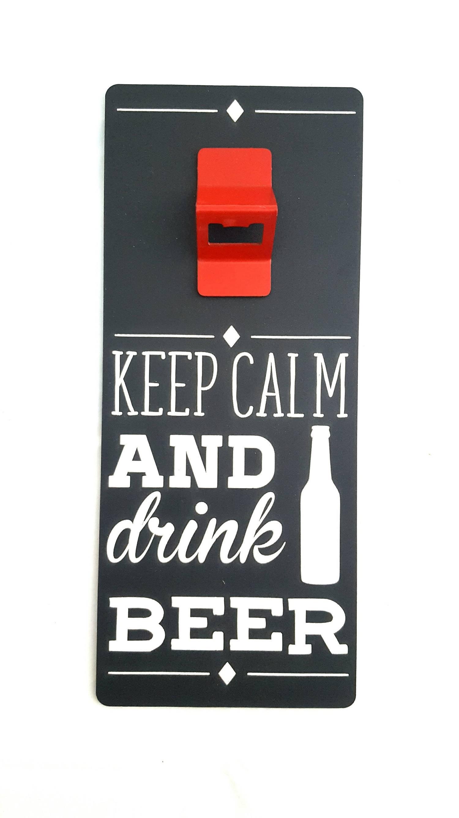 Abridor de garrafas de parede - Keep Calm and