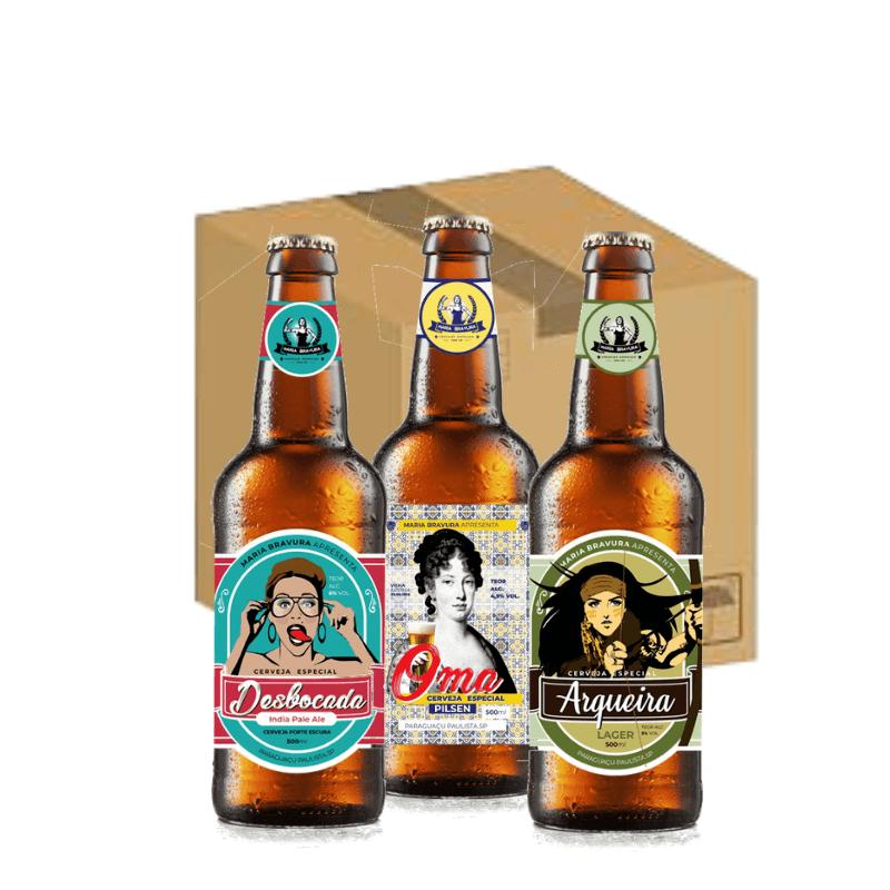 Caixa Maria Bravura - 12 Cervejas de 500ml