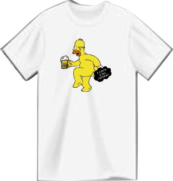 Camiseta Root Brewers – Homer Simpson Poliéster.