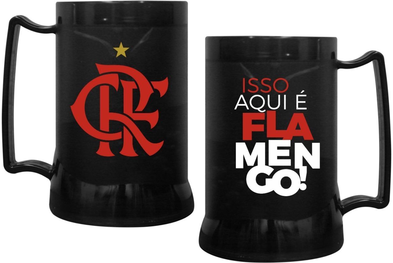 Caneca Copo gel Flamengo 400ml Oficial