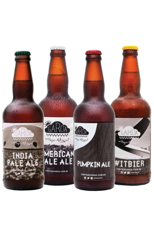 Pack Degustação Garoa - 4 Cervejas 500ml