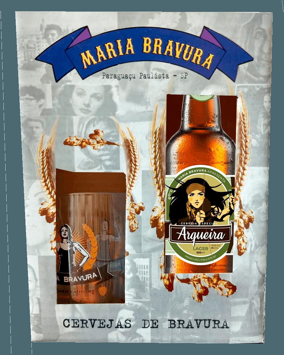Kit Maria Bravura - Caneca 340ml + Cerveja Arqueira 500ml