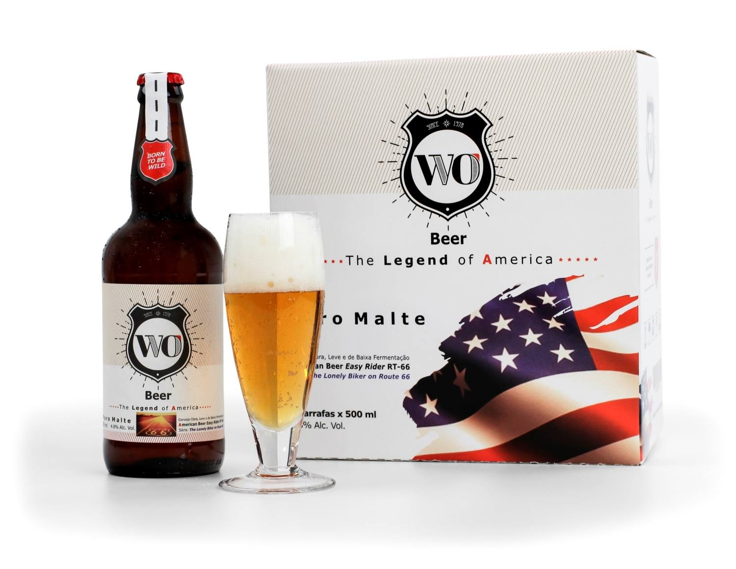 WO Beer American Beer Easy Rider RT-66 - Caixa 6 unidades 500 ml