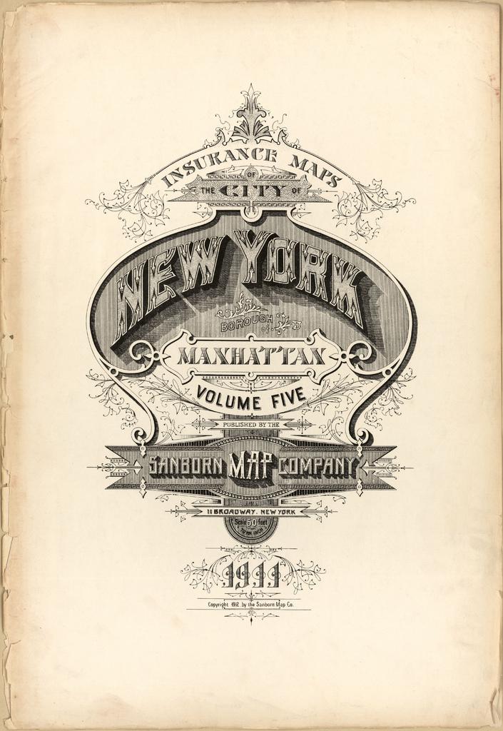 Sanborn Fire Insurance maps Manhattan, New York City