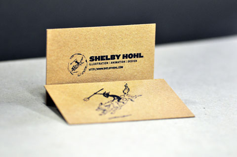 Screen printed business cards on chipboard blog post by mamas sauce shelby hohl screen printed business card by mamas sauce colourmoves