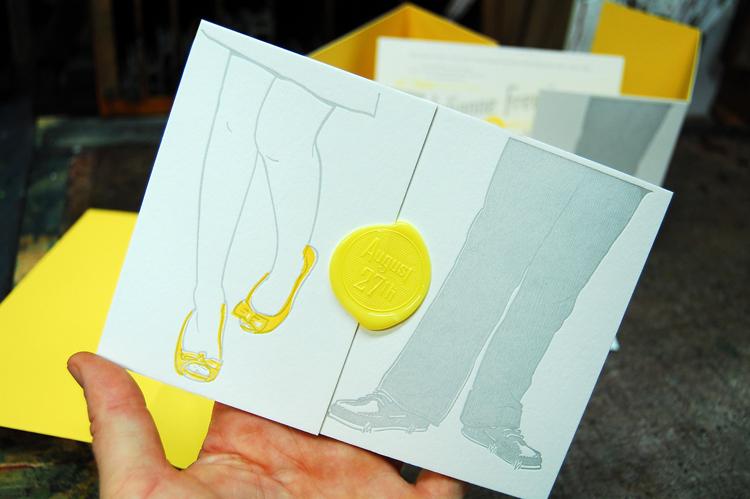 Julianne & Phil's wedding invitation by Mama's Sauce