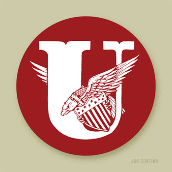 Love Letters for the Hamilton Wood Type & Print Museum: U by Jon Contino