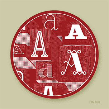 Love Letters for the Hamilton Wood Type & Print Museum: A by Fuzzco