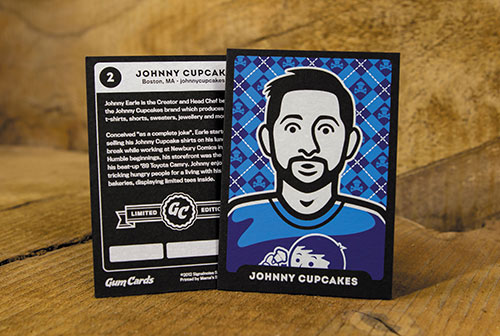 Signalnoise James White: Gum cards designer baseball trading cards