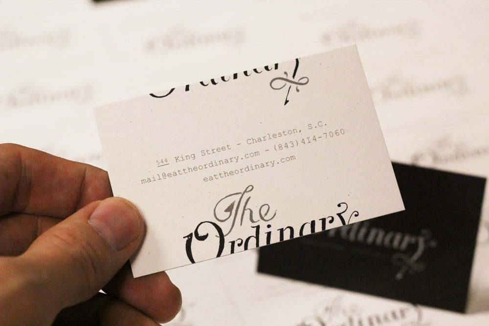 The Ordinary business card by Fuzzco, printed by Mama's Sauce