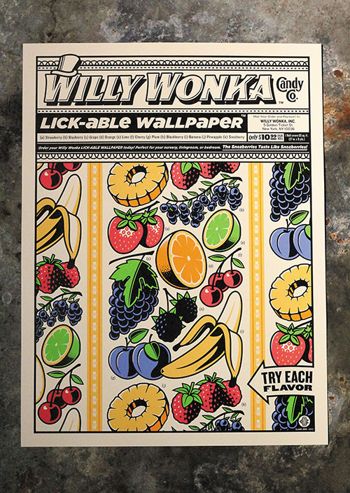 Clark Orr: Willy Wonka Lick-able Wallpaper