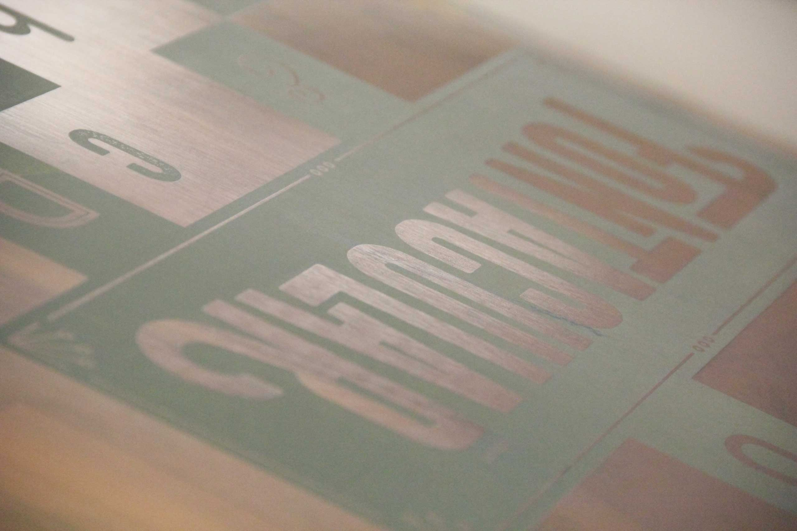 Fonts.com Fontacular screen printed poster