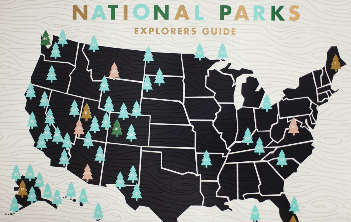 Seth Lucas National Parks screen printed poster